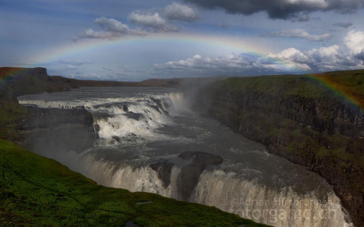 Gullfoss, Island: Spektakulärer Wasserfall