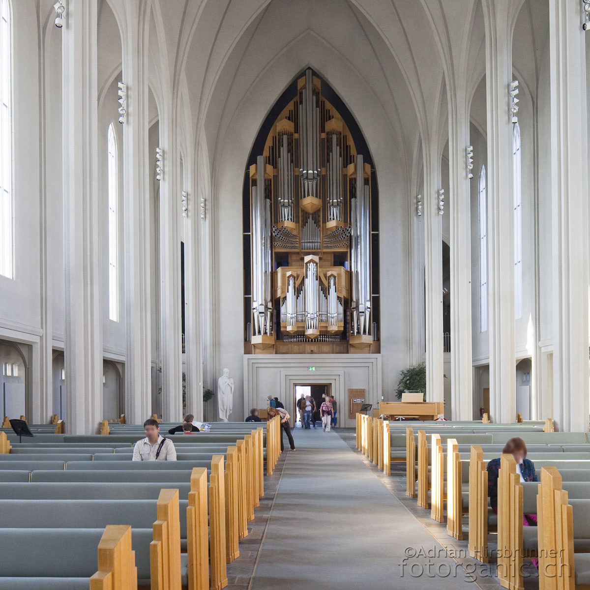 Orgel in der Hallgrimskirkja: Erinnert ebenfalls an Basaltsäulen.