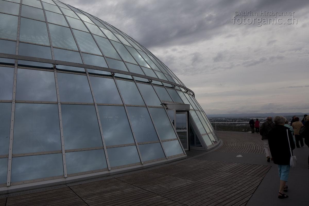 """Perlan, Reykjavik: Auf dem """"Deck des Raumschiffs"""""""