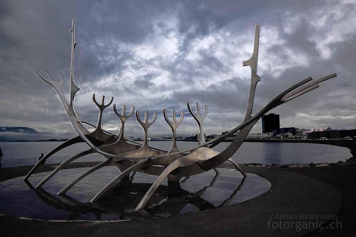 Das Wikinger-Denkmal in Reykjavik überzeugt durch Schlichtheit und Eleganz