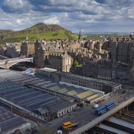 Ausblick auf Edinburgh
