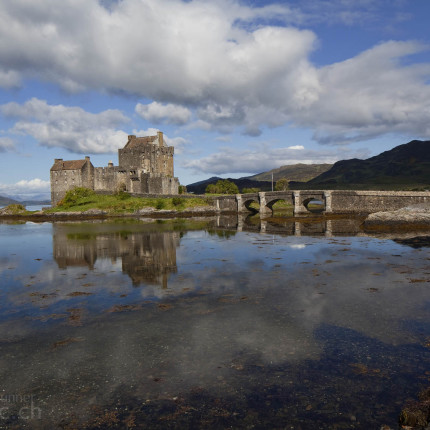 Eilean Donan Castle Dornie, berühmtes Schloss in Nordwestschottland