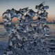 Besonders schöner Eiskristall im Abendlicht - Jökulsárlón