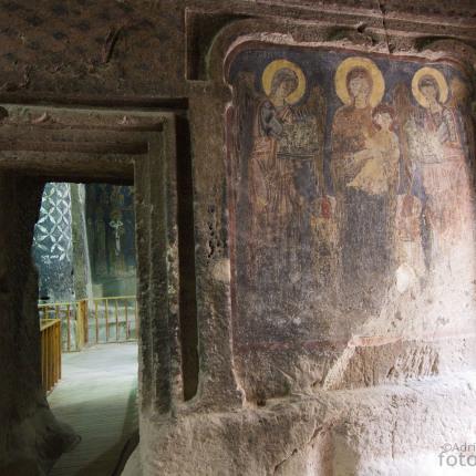 Das hervorragend erhaltene Kloster Eski Gümüş mit seinen Freskenmalereien.