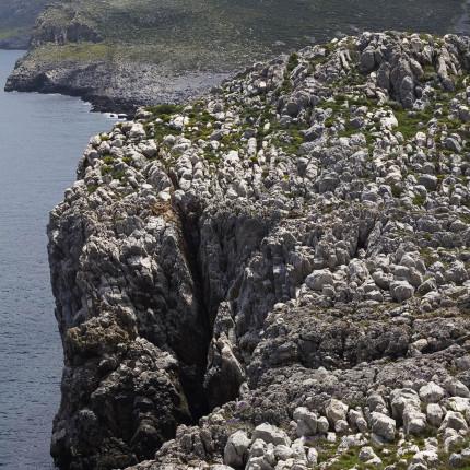 Karstgestein dominiert vielerorts in Mani