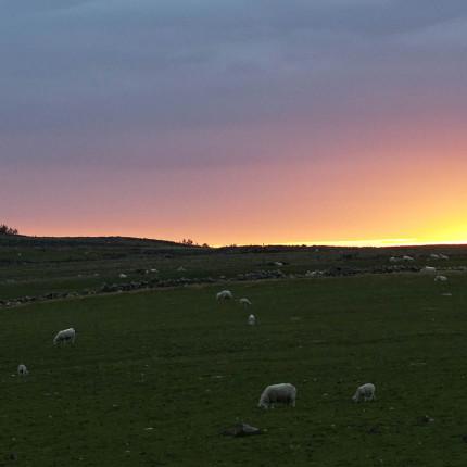 Sonnenuntergang beim Cottage