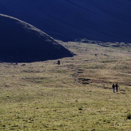 Wanderer auf dem Lukmanierpass.