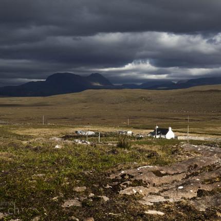 Gemischtes Wetter in South Erradale, Schottland
