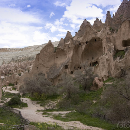 Die Felsen des Zelve Tals waren bis in die 1950er Jahre bewohnt.