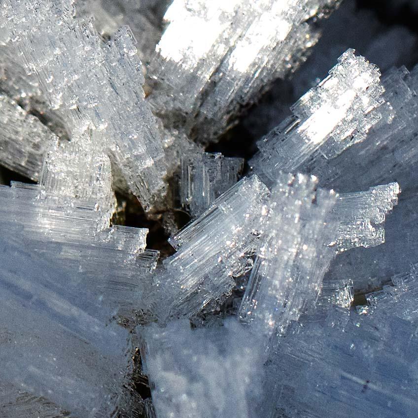 Der 100% Ausschnitt des Bildes zeigt den Detailreichtum der Schneekristalle. Eindrückliche Opulenz der Bilder der Canon EOS 5ds r!
