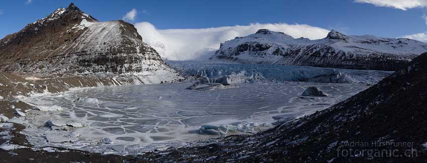 Überall Gletscherzungen. Der Skaftafell-Nationalpark.