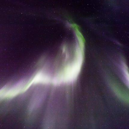 Als Flaming bezeichnet man Zenit-gerichtete pulsierende Strahlen. Sie sind schwer zu fotografieren da sie sich mit horrender Geschwindigkeit bewegen.