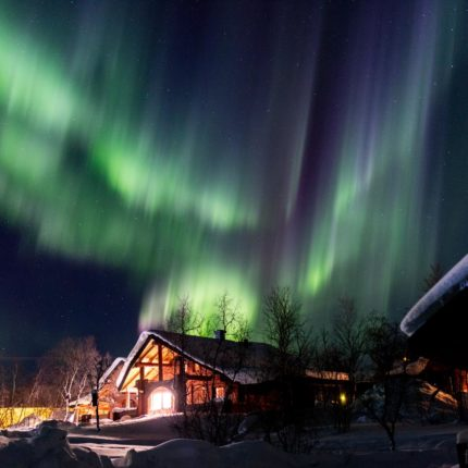 Kurz vor Mitternacht tanzen die Polarlichter am 10.03.2017 wie verrückt!
