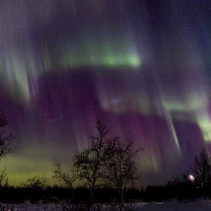 Pulsierende Lichter über unseren Köpfen bis zum Horizont.
