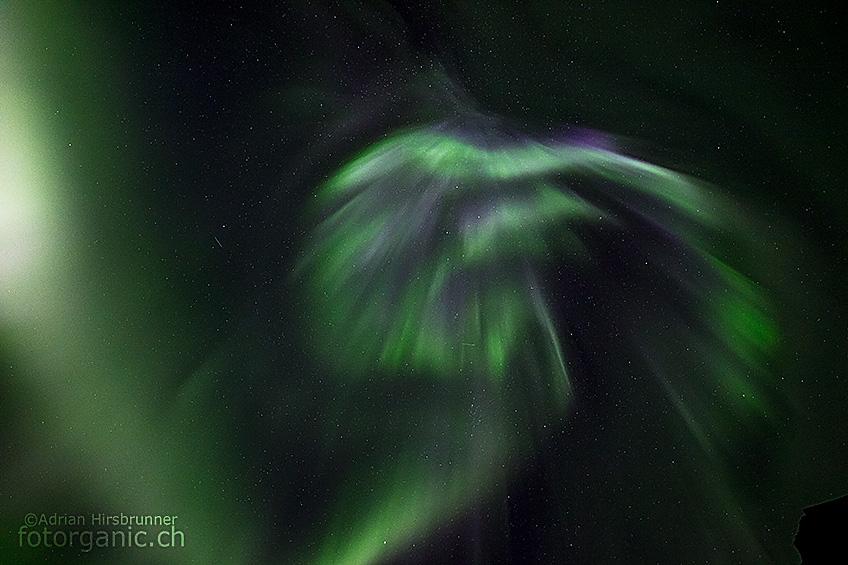 Die Polarlichter tanzen in Ramberg bis in die frühen Morgenstunden hinein.