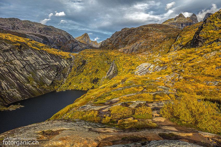Hier müssen wir eine Pause einlegen um die Landschaft zu geniessen.
