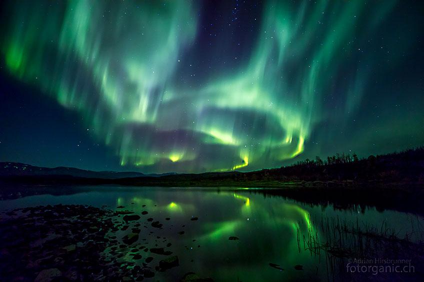 Die Polarlichter - hier in Schweden - sind ein unvergessliches Erlebnis