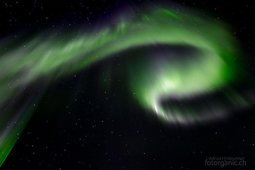 Die Polarlichter sind wieder am tanzen...