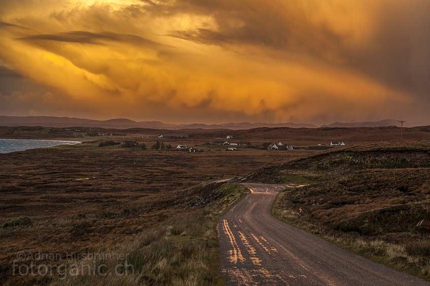 Das Wetter sorgt in Schottland immer wieder für grandiose Stimmungen!