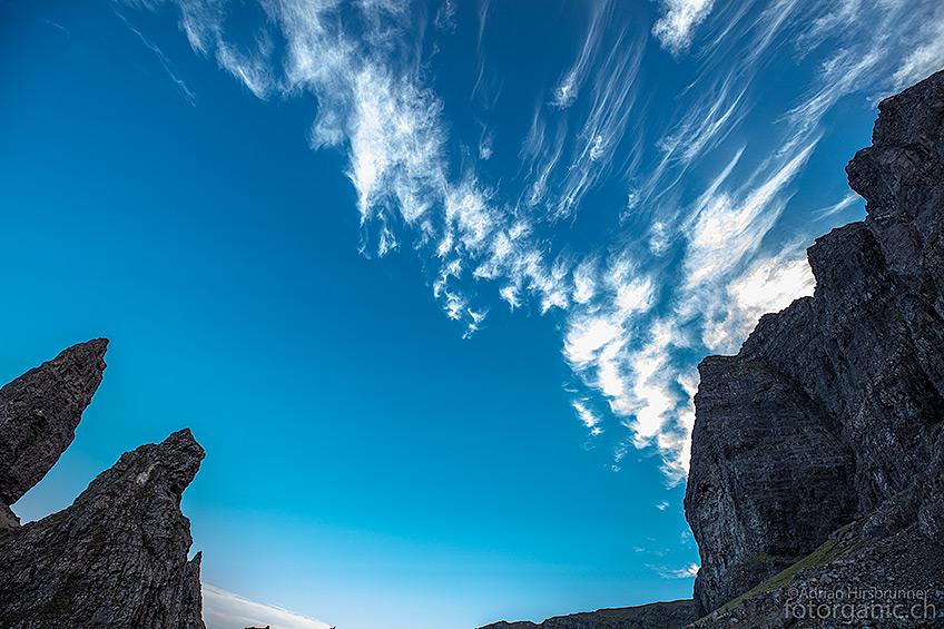 Die aufziehenden Cirrus Wolken kommen mir als Fotograf sehr gelegen!