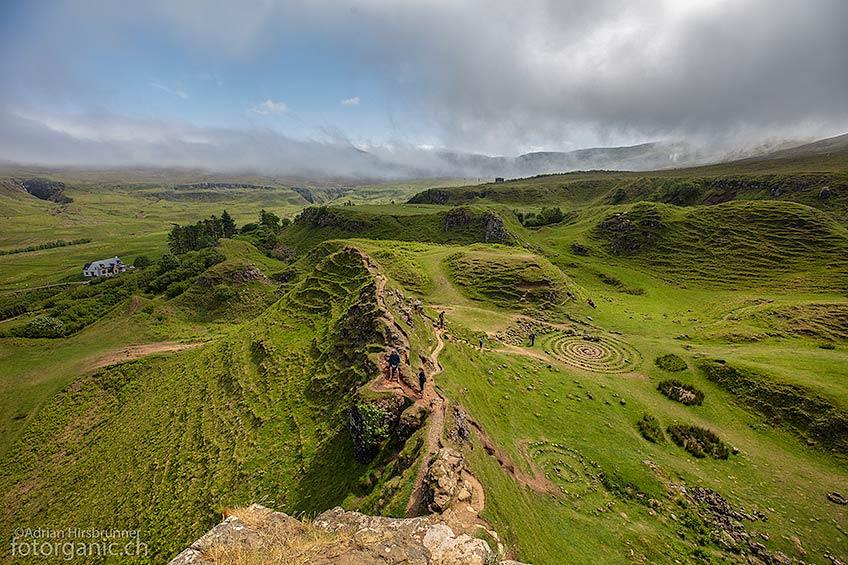 Das Fairy Glen erinnert etwas an die Landschaft des Machu Picchu