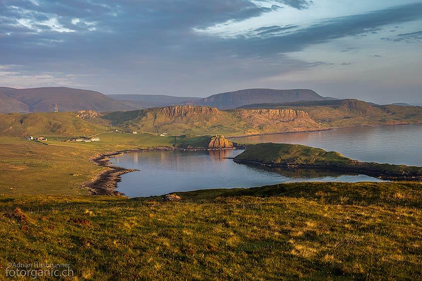 Die Bucht mit dem Duntulm Castle beherbergt auch Seehunde.