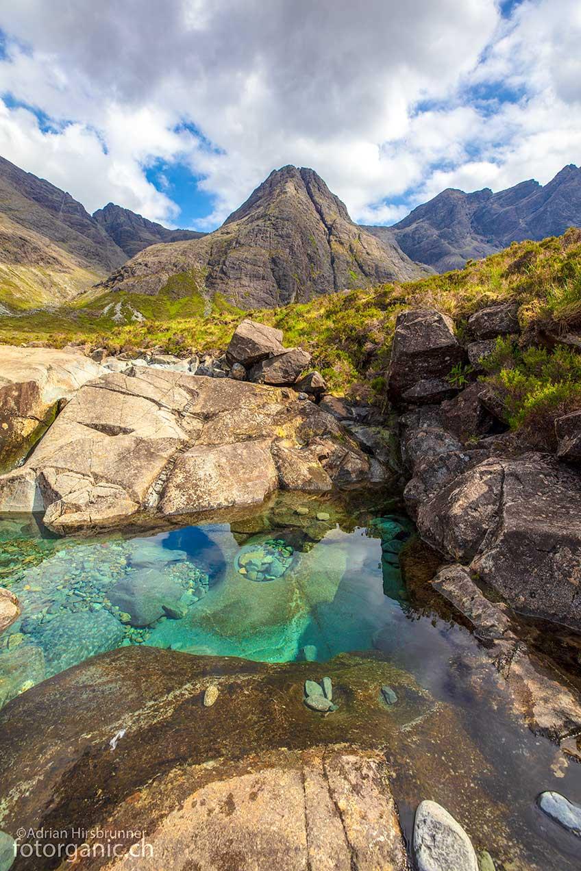 Die Fairy Pools sind zwar reizvoll, touristisch jedoch hoffnungslos überbesucht.