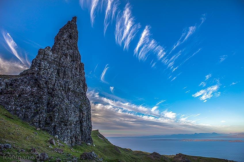 Die Landschaft rund um den Old Man of Storr gehört zu den schönsten Kulissen der Isle of Skye.