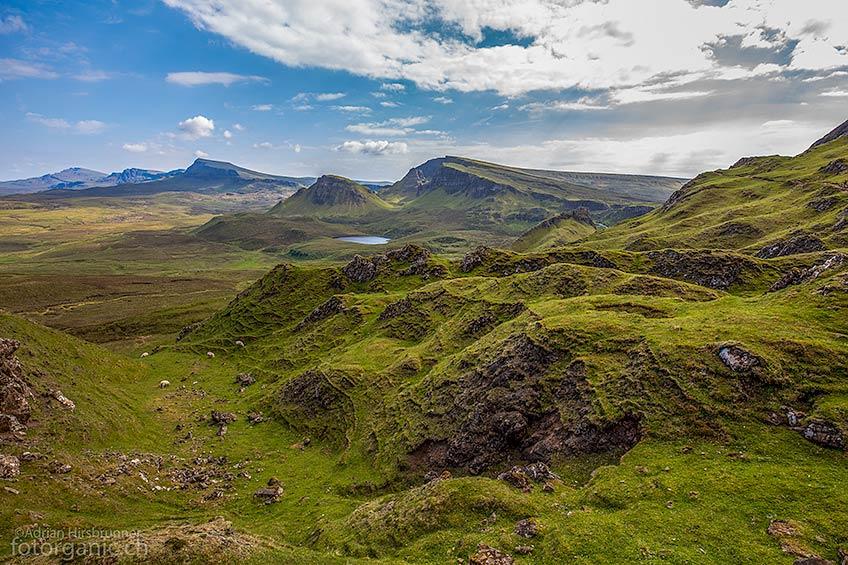 Die Quiraing Rundwanderung ist eine der attraktivsten Wanderungen von Skye.