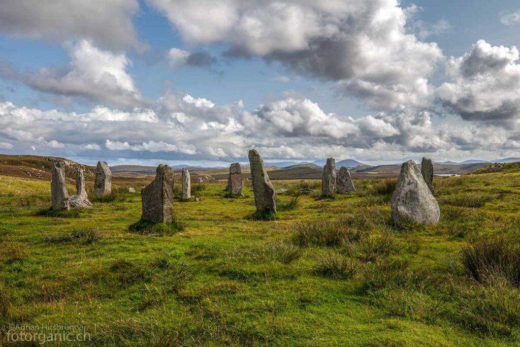 Rund um Callanish sind zahlreiche steinzeitliche Anlagen mit Steinkreisen zu bestaunen.