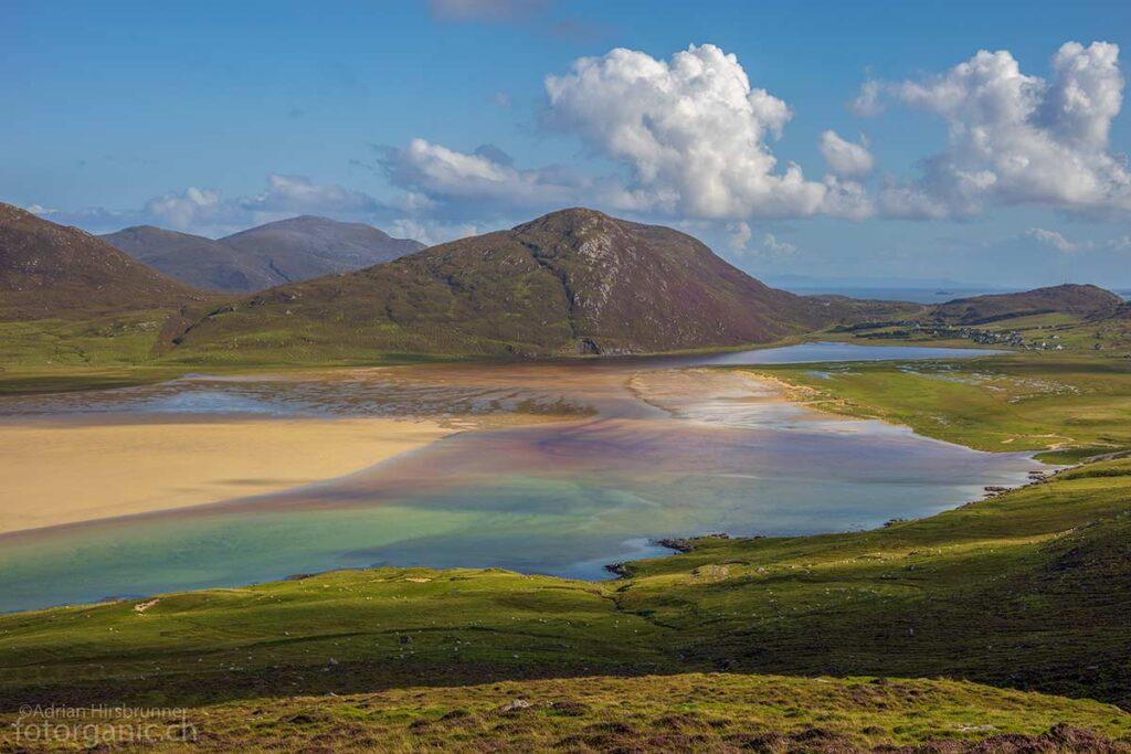 Lewis and Harris ist eine Insel der Farben. Abgesehen von Island, habe ich noch kaum irgendwo eine Landschaft mit einer derartigen Farbenvielfalt gesehen.
