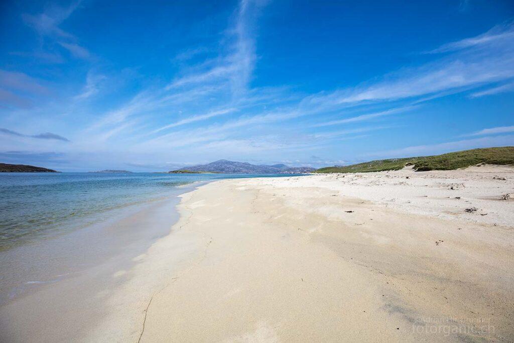 Auch bei Traigh Mheilein befindet sich ein weisser Sandstrand.