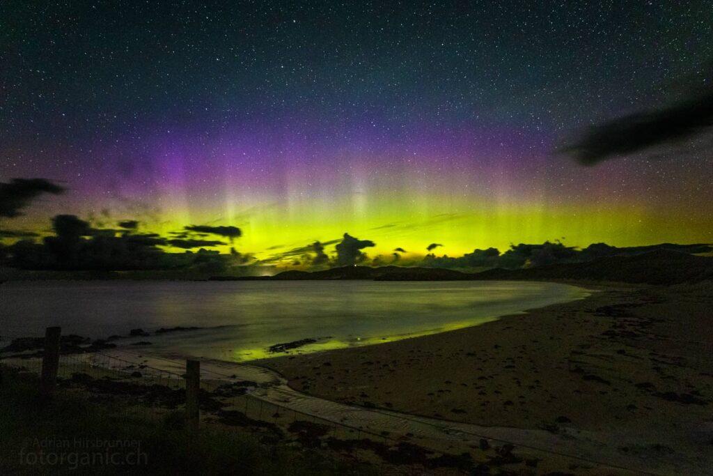 Auch in Schottland kann das Polarlicht beobachtet werden. Durness liegt auf dem 58°N und ist somit ein guter Ort für eine erfolgreiche Observation.